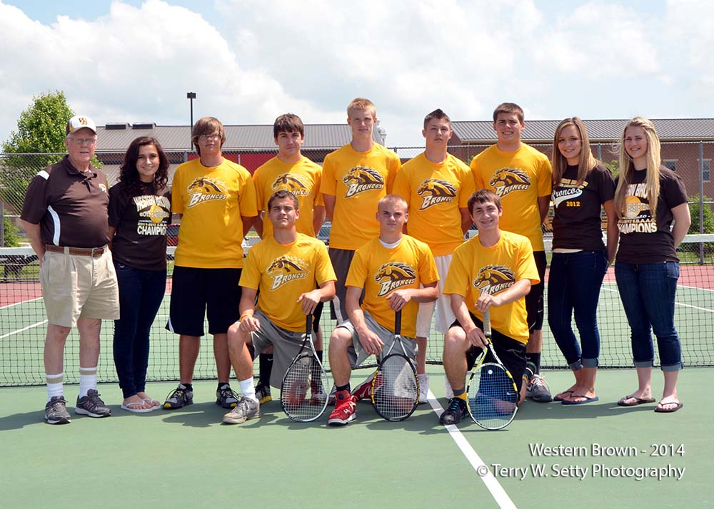 Western Brown Tennis Team